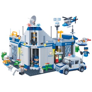 [레고호환블록, BO8341] 경찰서 (Police Station Building Block Set)
